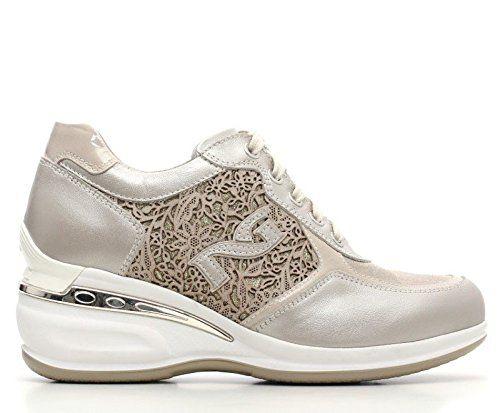 NERO GIARDINIP615060D 505 SNEAKERS FRAU SNEAKERS Wedges, WEDGE INSIDE, NEUE KOLLEKTION FRÜHLING SOMMER 2016 Leder / CANVAS P6 15060 D 505 SAVANA - http://on-line-kaufen.de/nero-giardini/nero-giardini-p615060d-505-sneakers-frau-wedges-d