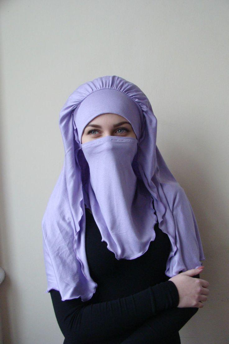 Transformer voluminous lilac barbe hijab niqab transformer