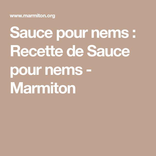 Sauce pour nems : Recette de Sauce pour nems - Marmiton