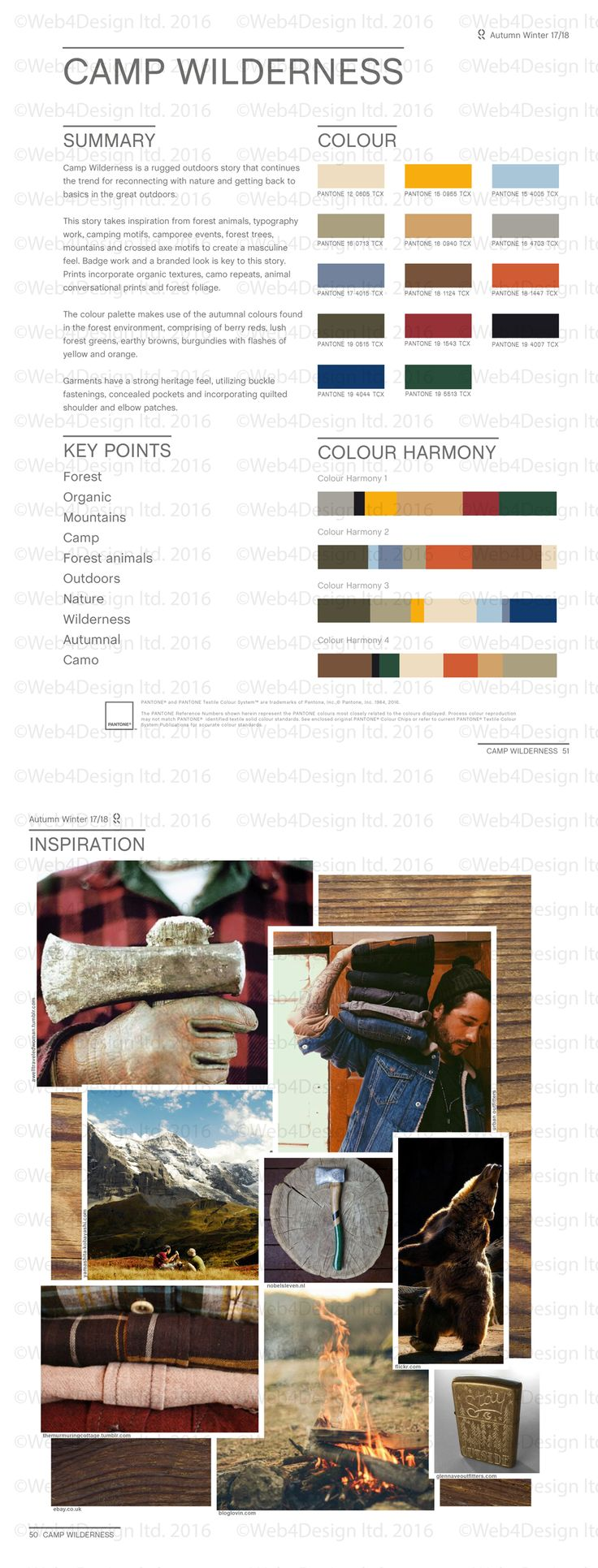 Style Right Camp Wildernessa AW1718 Trend Board