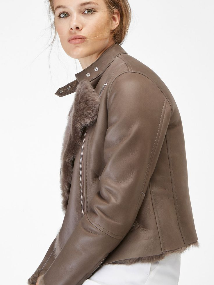 Autumn winter 2016 Women´s JACKET WITH FUR AND LEATHER at Massimo Dutti for 690. Effortless elegance!