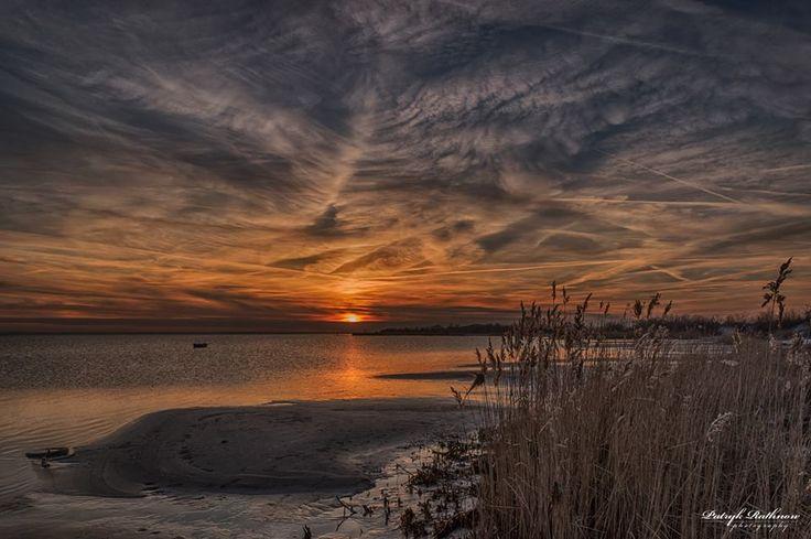 Zachód słońca w Jastarni.