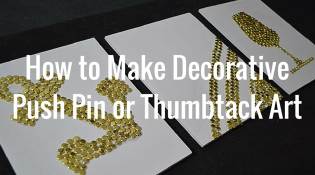 Looking for easy and inexpensive ways to add art to your walls? Try making decorative push pin art! #diy