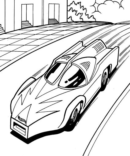 Hot Wheels Coloring Pages | VÄRITYSKUVIA - Pojat | Pinterest | Hot ...