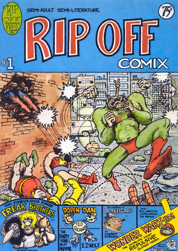 Rip Off Comix 1 by #Gilbert_Shelton #underground_comics