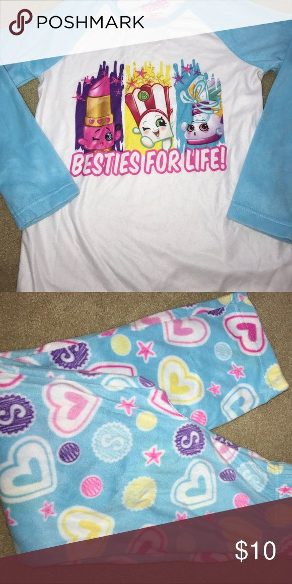 shopkins pj set shopkins pj fleece set. size m 7/8 Pajamas Pajama Sets