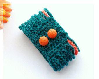 Pulsera abalorios ganchillo brazalete pulsera por CraftsbySigita