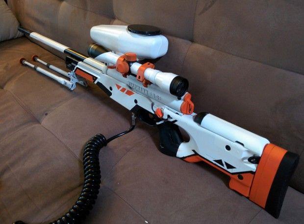 counterstrike asiimov paintball gun