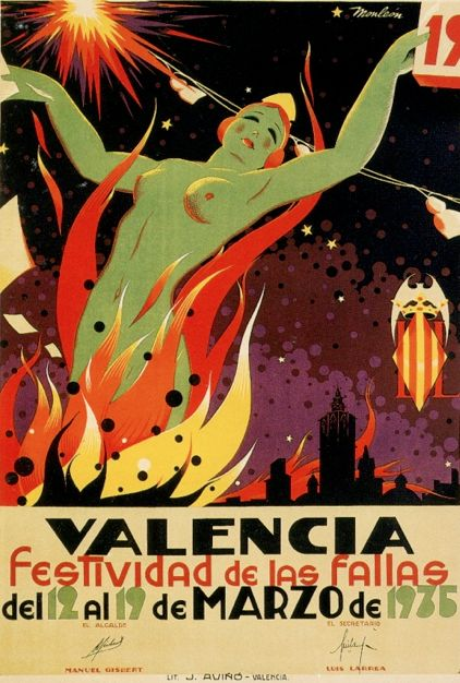 By Manuel Monleón Burgos (1914-1976), 1935, Valencia: festividad de las fallas. (S)