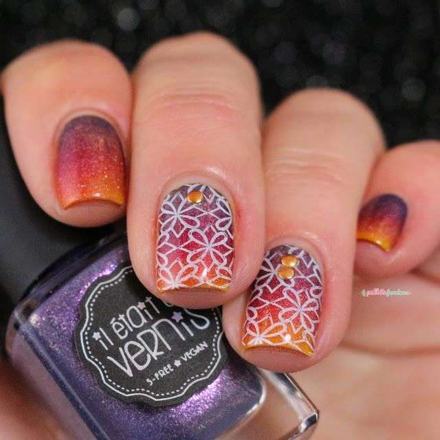 ieuv sunset gradient alhambra nail art