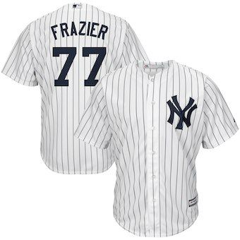 19074745c Clint Frazier New York Yankees Majestic Home Cool Base Replica Player Jersey  - White