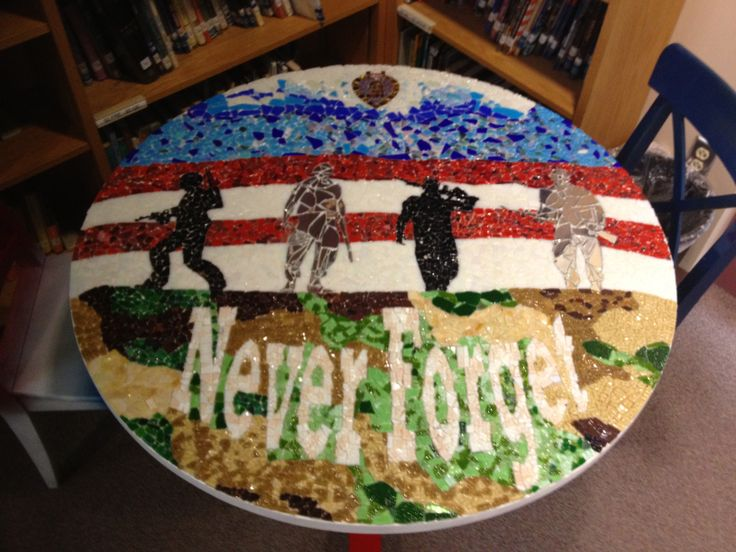 Never Forget created by 8th grade students at Oblock Jr. high, Plum PA
