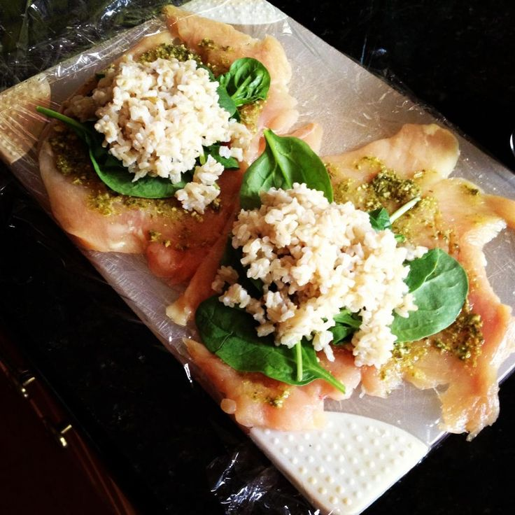 brown rice, spinach, and chicken | Meal ideas | Pinterest