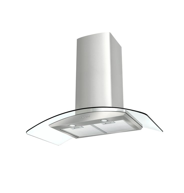 Robinhood RIV3CL9G Island Curved Glass  Elegant Soft curves, clean glass, quiet power Elegant European styling and a powerful motor that gets the job done with a minimum of fuss. Convenient switch controls on two sides of the rangehood