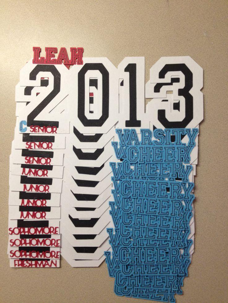 Cheer locker decoration, Cheerleading high school years