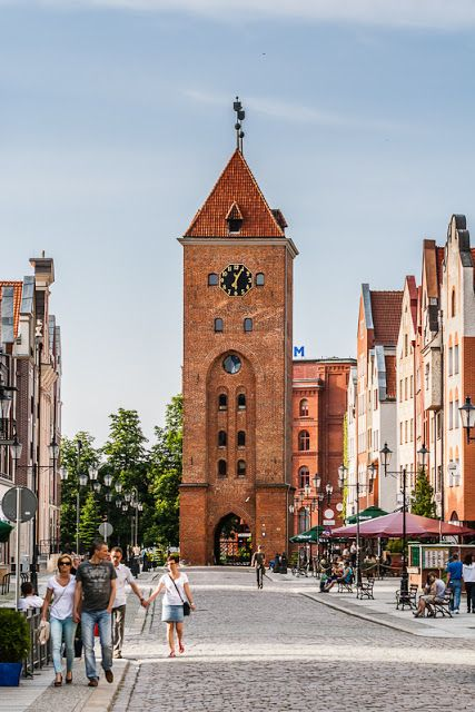 Old Market Square and the Market Gate, Elblag, Poland