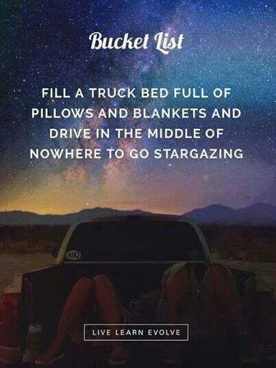 Stargazing for two. Great Bucket List idea...