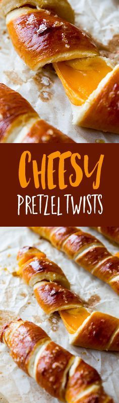 Learn how to make these easy Cheesy Pretzel Twists recipe - the perfect comfort food, and great for football-watching parties!