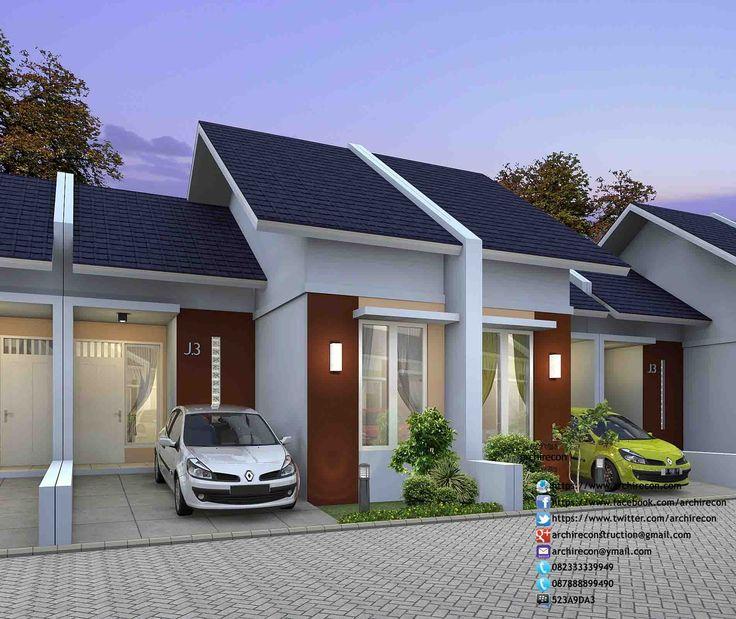 Desain Rumah Minimalis Perumahan Griya Mas Sidoarjo. 3D TAMPAK Type 45. http://goo.gl/AhwIY6