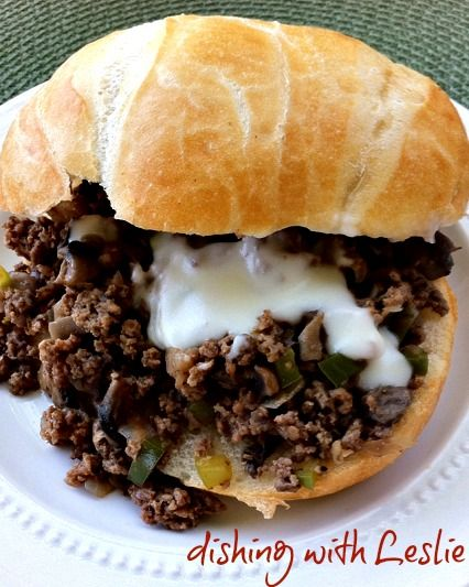 Dishing With Leslie: Philly Cheese Steak Sloppy Joes