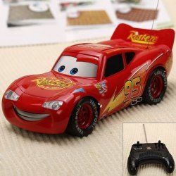 $17.89 NO.0395 Perfect Performance 27MHz Lightning McQueen Rip Stick Racers R/C Car Toy - Red