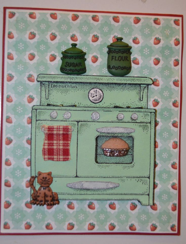 Old Cook Stove. Sells for 12.99.  . Retired Art Impressions Other items in examples sold separately Pat's Rubber Stamps & Scrapbooks. Call me 423-357-4334 or email me patbubstilwell@gm... with orders Free shipping with 35.00 or more on phone call order or email orders. We can send an invoice through pay pal and we don't need your account Number
