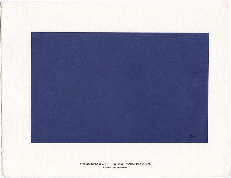 Yves Klein, Haguenault Peintures, 1954