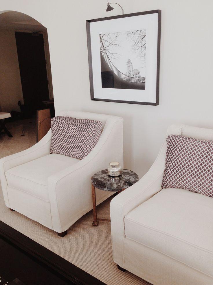 Chicago Condo. Quatrine Slipcovered New Grace Chairs. Custom FurnitureLuxury  ...