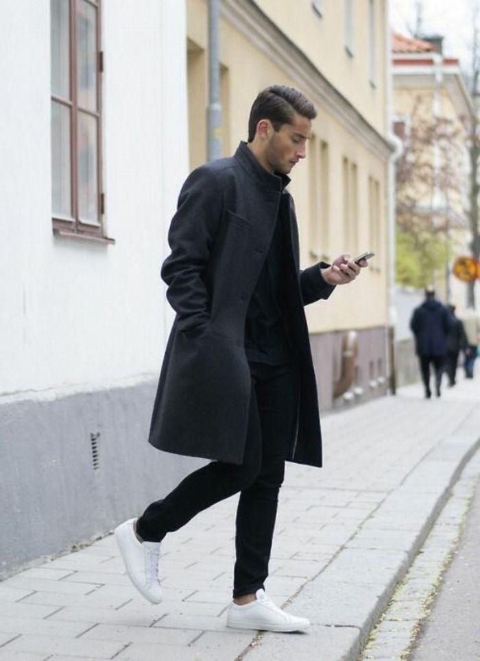 manteau homme zara noir, comment etre chic meme les hommes