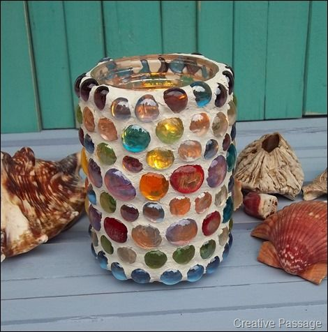 Marble jar candle holder.....have one.  They give off beautiful light.