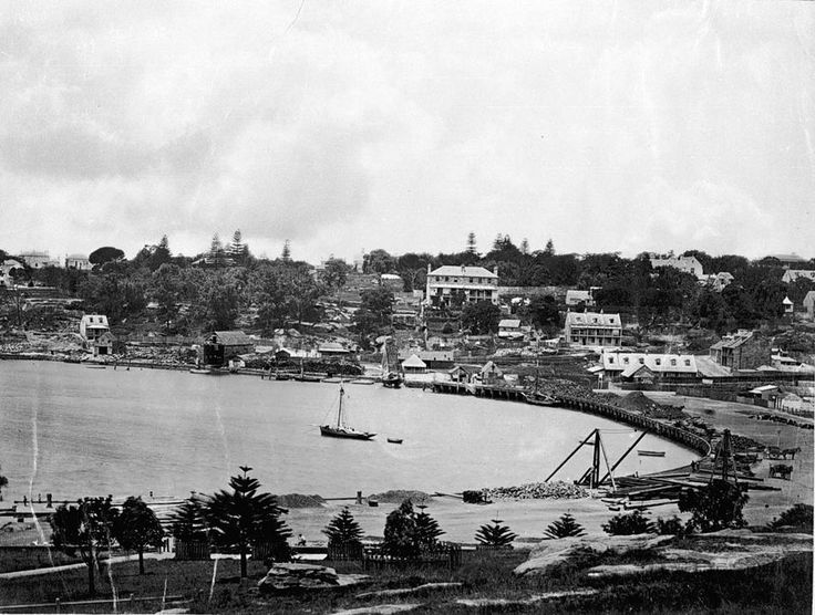 View of Wooloomooloo c.1870.  Museum Victoria.