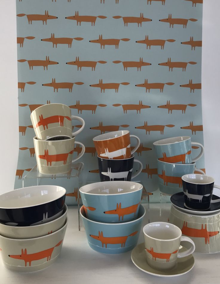 Scion's famous 'Mr Fox' makes an appearance on mugs, bowls and fabric.