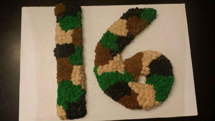 Camo 16 cake