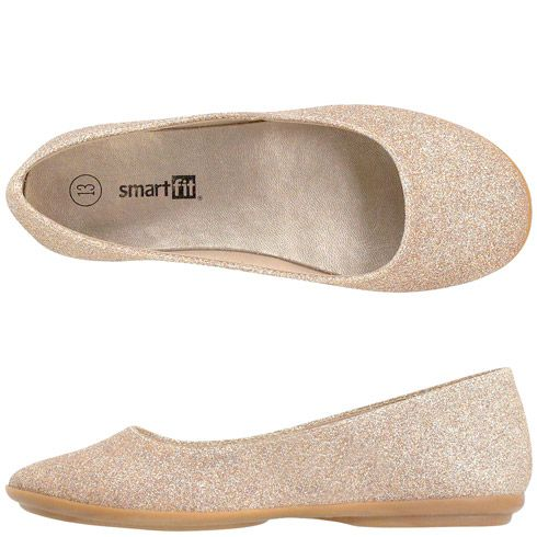 $13 girls flower girl shoes  Payless  Girls SmartfitGirls' Glitter Ballet Flat