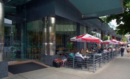 Patio season! We now have new patio umbrellas.