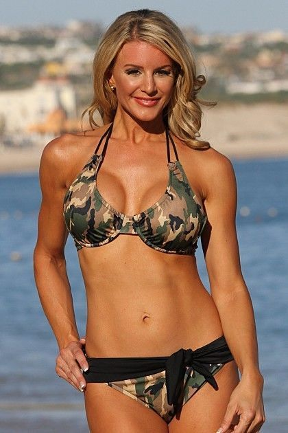 Ujena Womens Swimwear Camo Belted Bikini Swimsuit Army Green Size S-2X Plus #Ujena #Bikini