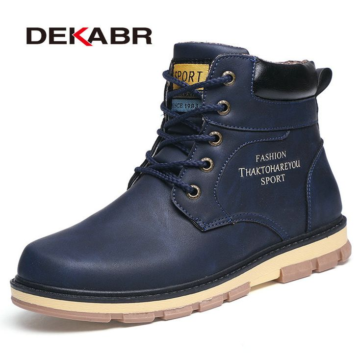 DEKABR Super Warm Men's Winter Pu Leather Ankle Boots Men Autumn Waterproof Snow Boots Leisure Martin Autumn Boots Shoes Mens   #men #me #mensfashion #newarrivals #kids #women #wedding #money #smartwatch #groom #photooftheday #sunshades #sale #style #sexyshoes