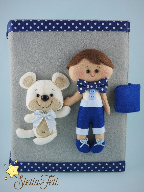 Personalized photo album  kids photo album  by HandmadeStellaFelt