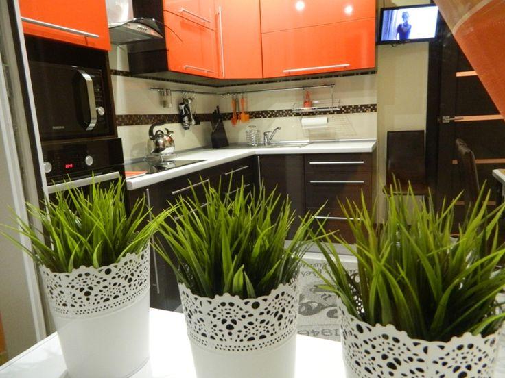 Кухня цвета венге с оранжевым 9 кв.м (12 фото) | Кухня ...