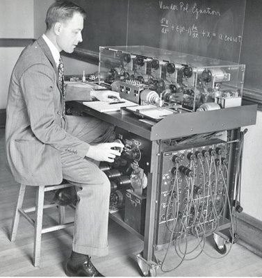 Differential Analyzer (1930s). An invention of Vannevar Bush and Harold L. Hazen.