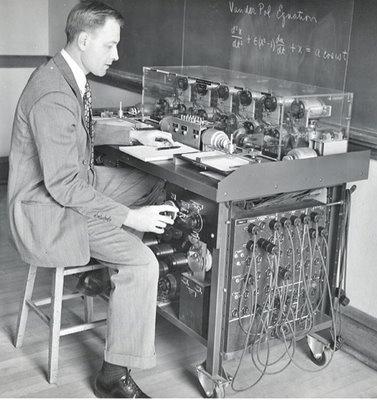 Differential Analyzer (1930s). An invention of Vannevar Bush and Harold L. Hazen.