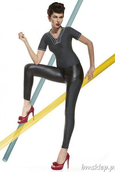 Niezwykle seksowne legginsy Tiffany pozwolą wyróżnić się w tłumie. Imitacja skóry dodaje drapieżnego charakteru. Z boku szwy oraz elastyczna wstawka w drobne #paseczki optycznie wysmuklają nogi. Z przodu zapinane na #zamek i guzik, z tyłu dodatkowa #gumka. Nogawki z tyłu posiadają małe zameczki. Grubość 200 DEN – całkowicie kryjące. Skład: 85% #poliester, 15% elastan.... #Legginsy - http://bmsklep.pl/legginsy