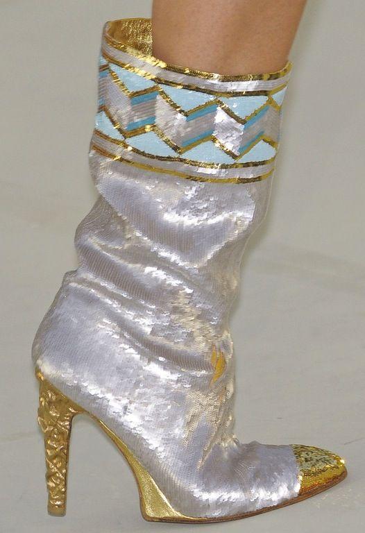 chanel glitter boots. chanel boots chanel glitter
