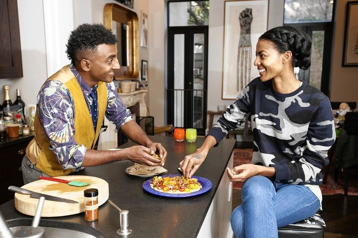 Marcus Samuelsson was born in Ethiopia, grew up in Sweden and now lives in a five-bedroom brownstone in New York's Harlem.