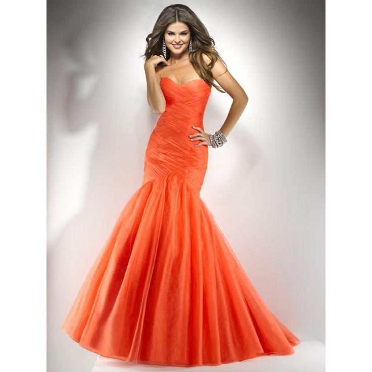 25  Best Ideas about Orange Prom Dresses on Pinterest | Dark ...
