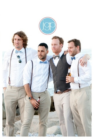 West Coast Beach Party Wedding {Sea Trader} | Confetti Daydreams - Groomsmen beach wedding attire ♥ #Wedding #Beach ♥ ♥ ♥ LIKE US ON FB: www.facebook.com/confettidaydreams ♥ ♥ ♥