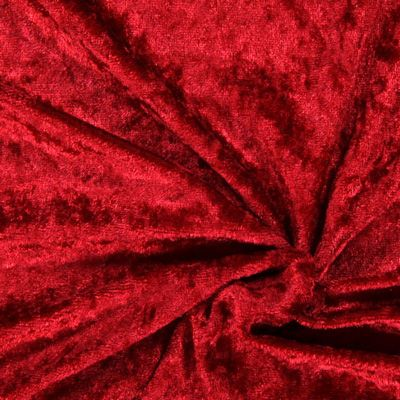 Panné samet 28 - Polyester - karminove červená
