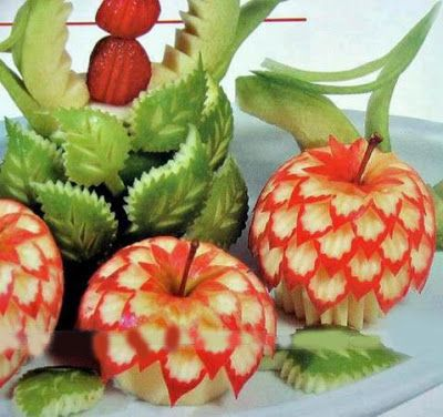 Fruit decoration fruit carving decoration fruit ideas for Apple fruit decoration