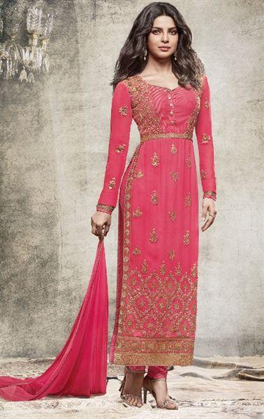 Picture of Mesmeric Pink Designer Bollywood Salwar Kameez