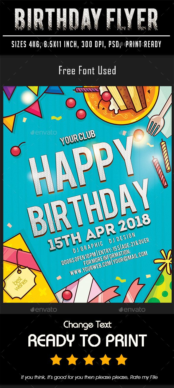 Birthday Flyer Print-templates Flyers To make this pin